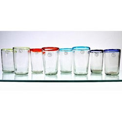 Mouth-blown 13-oz Baja Highball Glasses (Set of 8)