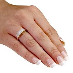 Palmbeach 10k Yellow Gold 1/4ct TDW Diamond Ring (H-I, I2-I3)
