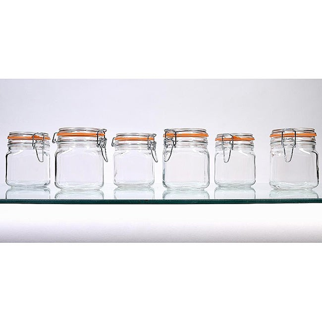 Borgonovo Hermetic 25-oz Jars (Set of 6)