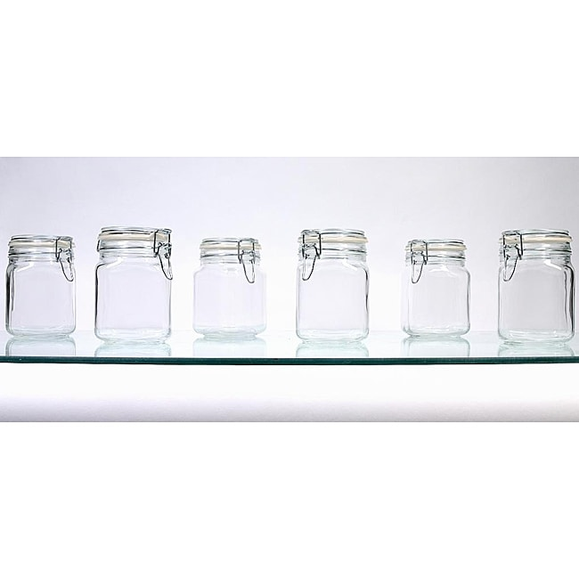 Borgonovo Hermetic 34-oz Jars (Pack of 6)