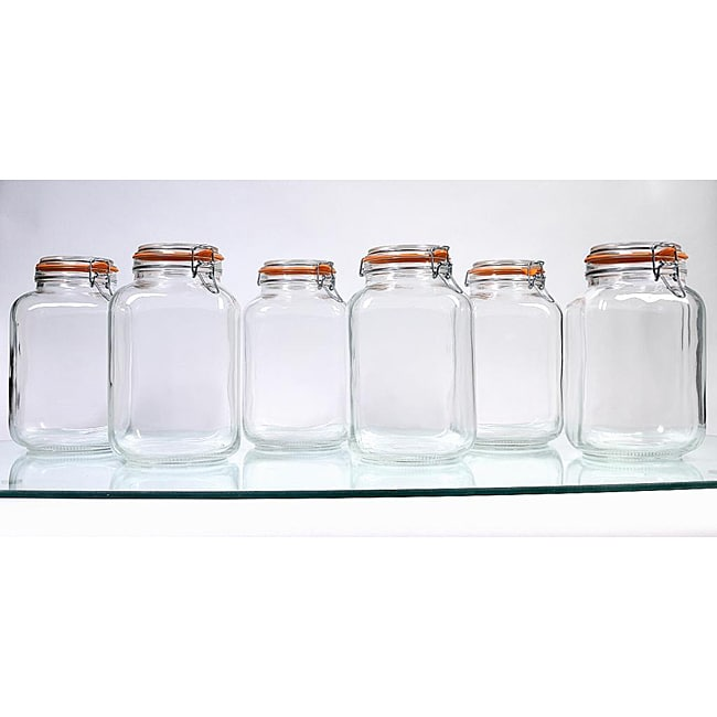 Borgonovo Hermetic 145-oz Jars (Pack of 6)