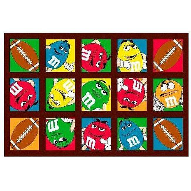 M&M's Football Party Rug (1'7 x 2'5)