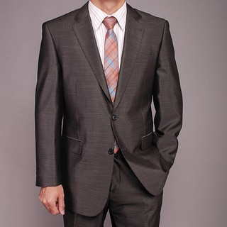 Men's Dark Gray Shiny 2-button Suit