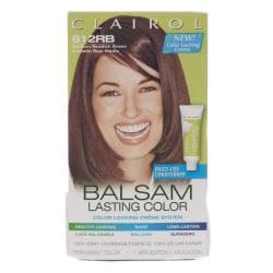 Clairol Balsam Lasting Color #612RB Medium Reddish Brown Hair Color (Pack of 4)