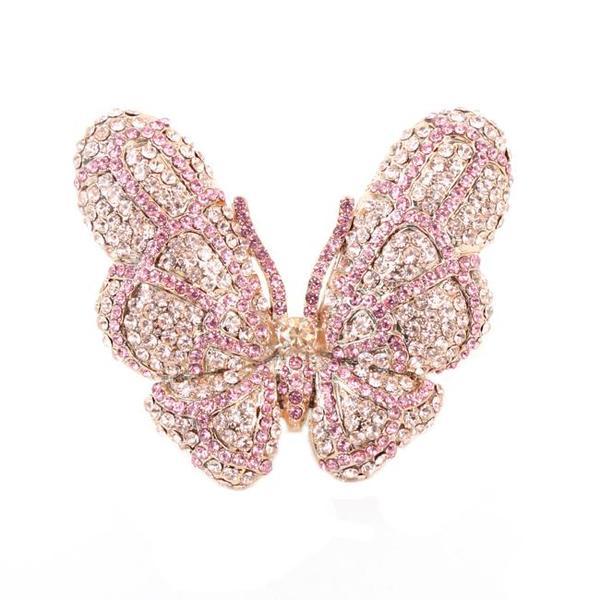 NEXTE Jewelry Papillion Rhinestone Butterfly Ring