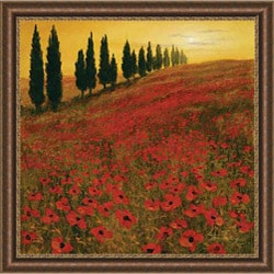 Thoms 'Poppies' Embellished Framed Art Print