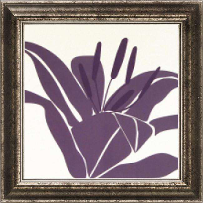 Burrowes 'Lily Purple' Embellished Framed Art Print
