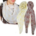 Peace Print Viscose Scarf (India)