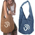 Cotton Heavy Stripe and Ohm Print Bag (Nepal)