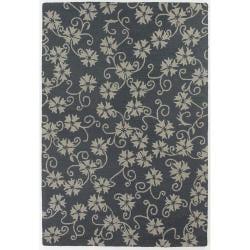 Hand-Tufted Beige/Gray Mandara New Zealand Wool Rug (5' x 7'6)