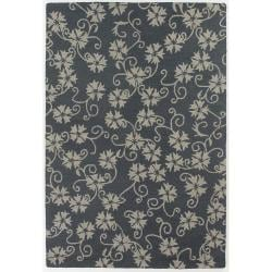 Hand-Tufted Mandara Floral Pattern New Zealand Wool Rug (9' x 13')
