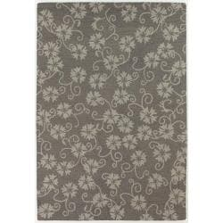Hand-Tufted Mandara Transitional Floral New Zealand Wool Rug (9' x 13')