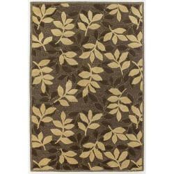 Hand-Tufted Gold/Brown Mandara New Zealand Wool Rug (5' x 7'6)