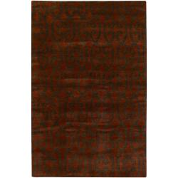 Hand-knotted Mandara New Zealand Wool Rug (9' x 13')