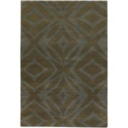 Artist's Loom Hand-knotted Contemporary Geometric Wool Rug (9'x13')