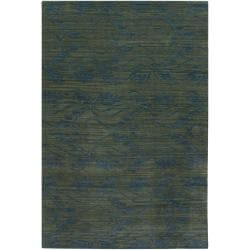 Hand-Knotted Mandara Floral New Zealand Wool Rug (9' x 13')