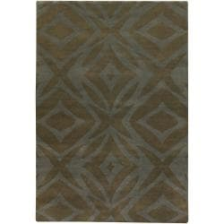 Hand-Knotted Mandara New Zealand Wool Rectangular Rug (7'9 x 10'6)