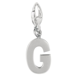 Sterling Silver Initial G Charm