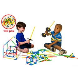 Serec U Build It 186-piece Chunky Construction Teaching Tool Toy Set