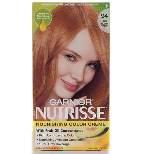 Garnier Nutrisse #94 Light Reddish Blonde Hair Color (Pack of 4)