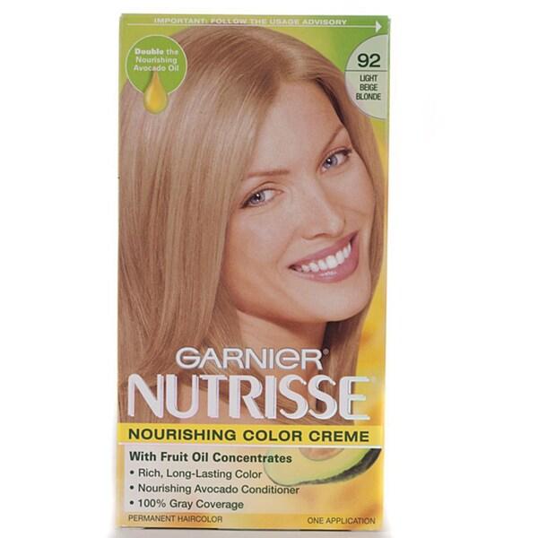 Garnier Nutrisse #92 Light Beige Blonde Hair Color