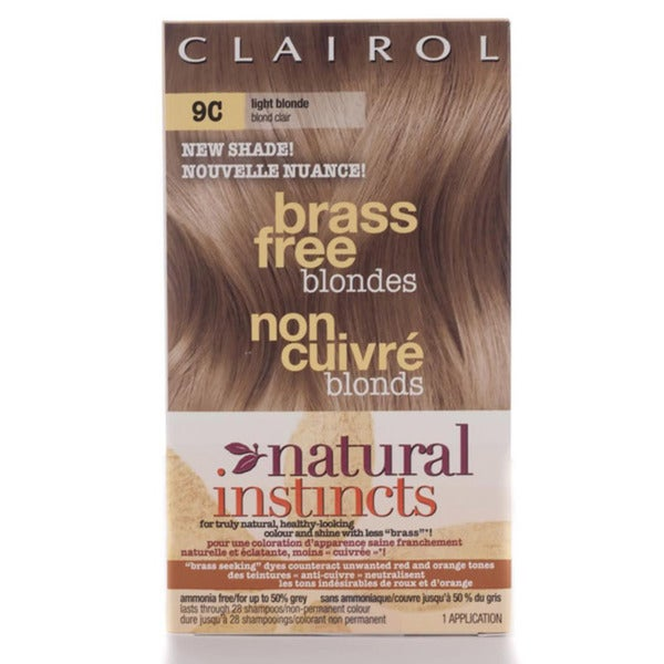 Natural Instincts Light Blonde #9C Brass Free Blondes Hair Color (Pack of 4)