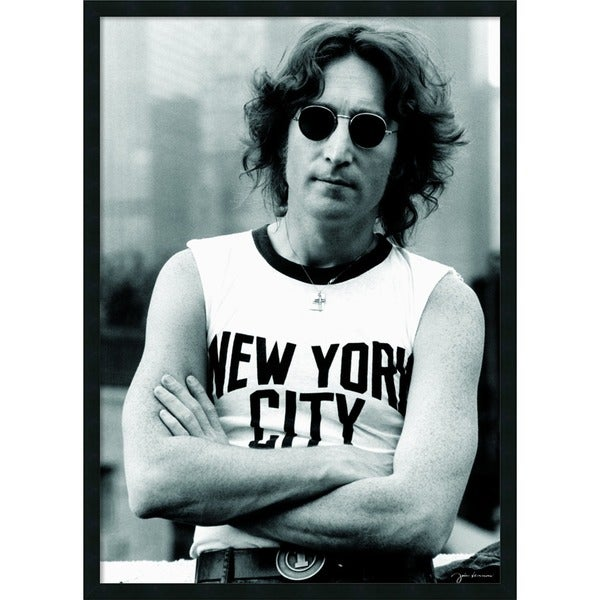 John Lenn'John Lennon - NYC' Framed Art Print with Gel Coated Finish