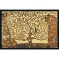 Gustav Klimt 'The Tree of Life, 1905-1911' Framed Art Print with Gel Coated Finish