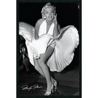 Matthew Zimmerman 'Marilyn in New York, 1954' Framed Art Print with Gel Coated Finish