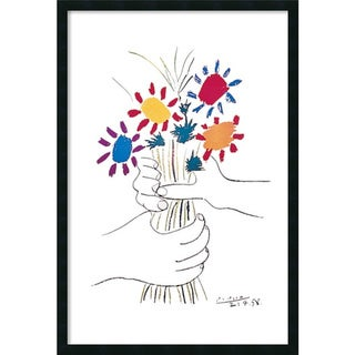Pablo Picasso 'Hands with Bouquet (Fleurs et Mains)' Framed Art Print with Gel Coated Finish