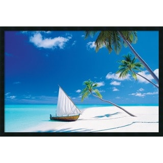 Paradise Found' Framed Art Print with Gel Coated Finish