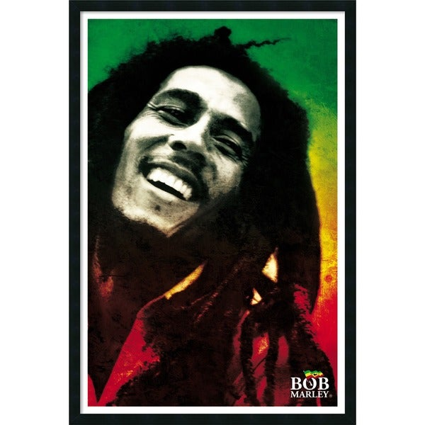 Bob Marley - Paint' Framed Art Print with Gel Coated Finish