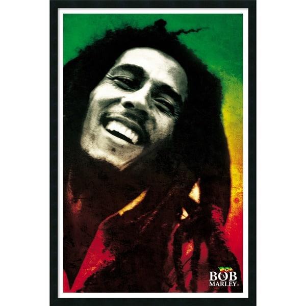 Bob Marley - Paint' Framed Art Print with Gel Coated Finish