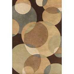 Alliyah Handmade Brown New Zealand Blend Wool Rug (4' x 6')