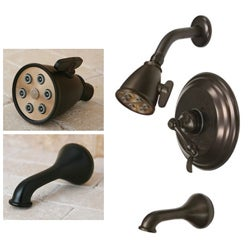 Oil-rubbed Bronze Tub and Shower Faucet