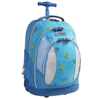 J World 'Sweet' 17-inch Kids Ergonomic Rolling Backpack