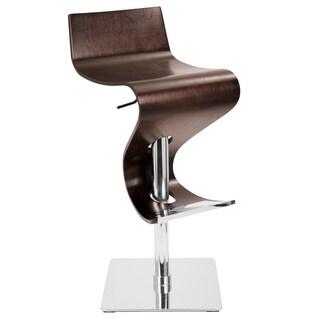 Wenge Bent Wood Hydraulic Barstool