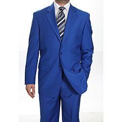 Ferrecci Men's Royal Blue Two-button Suit