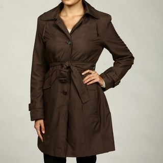 Anne Klein Women's Truffle Zip-off Hood Coat FINAL SALE