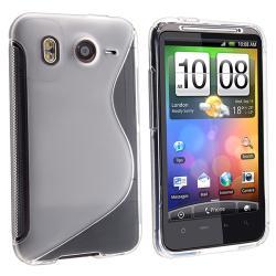 White TPU Rubber Case for HTC Desire