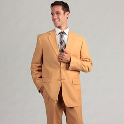 Ferrecci Men's Tan Two-button Suit