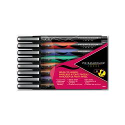 Prismacolor Assorted Color Brush Tip Markers (Set of 8)
