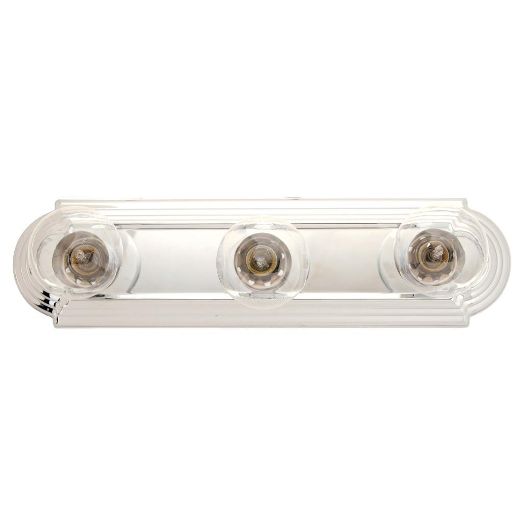 Transitional 3-light Chrome Bath Bar Fixture