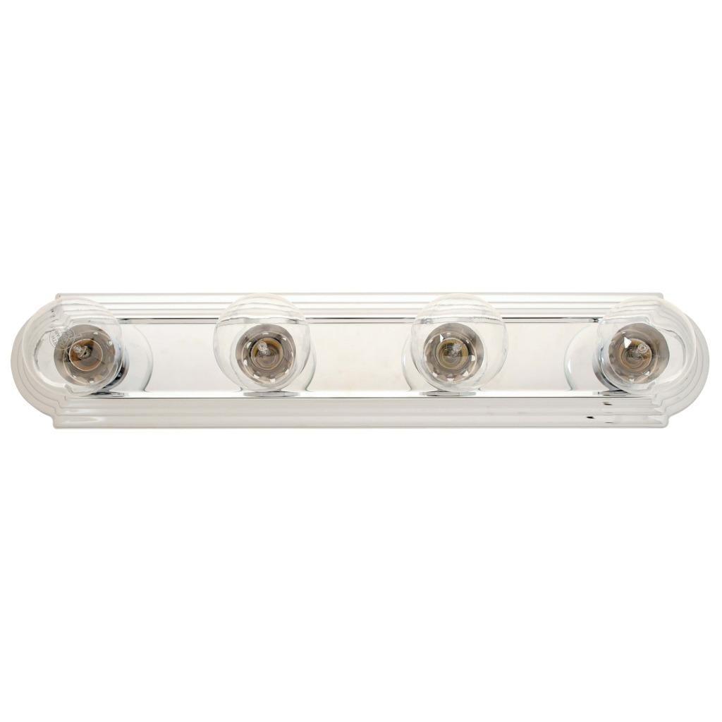 Transitional 4-light Chrome Bath Bar Fixture