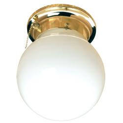 Transitional Brass Indoor One-Light Flush Sconce