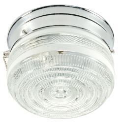 Transitional Chrome 1-light Flush Sconce