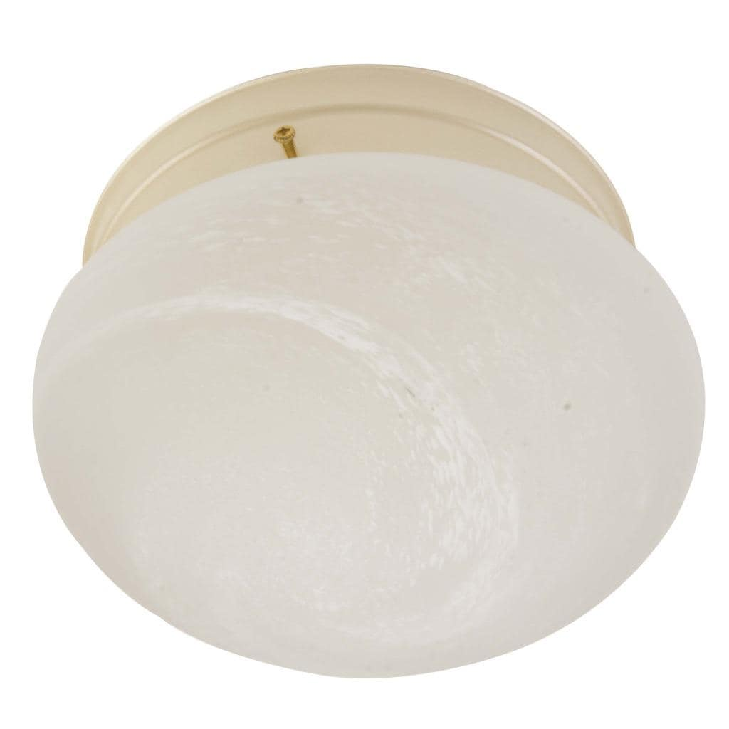 Transitional Pearl Mist 1-light Flush Sconce