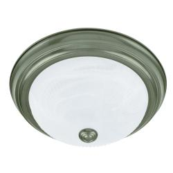 Transitional 2-light Jade Mist Flush-mount Fixture