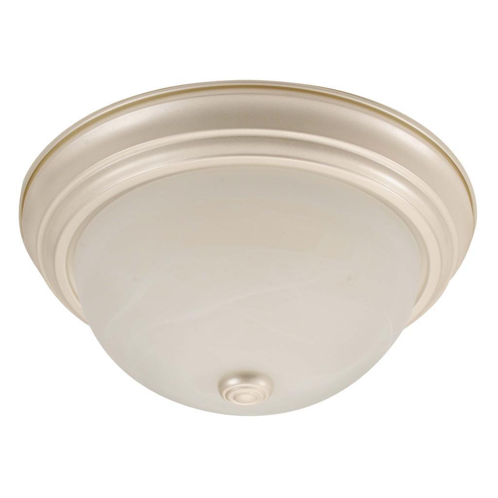 Transitional 1-light Pearl Mist Flush-mount Fixture