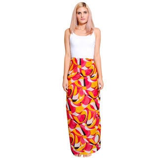 Cotton Abstract Strokes Print Sarong (India)